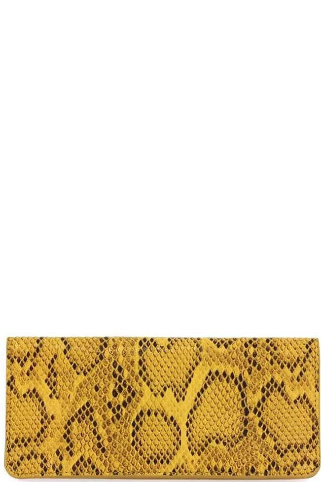 Yellow Snake Skin Wallet