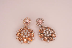 Katie Pearl CZ Dangle Earrings