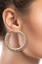Kiddy Silver Coiled Hoops