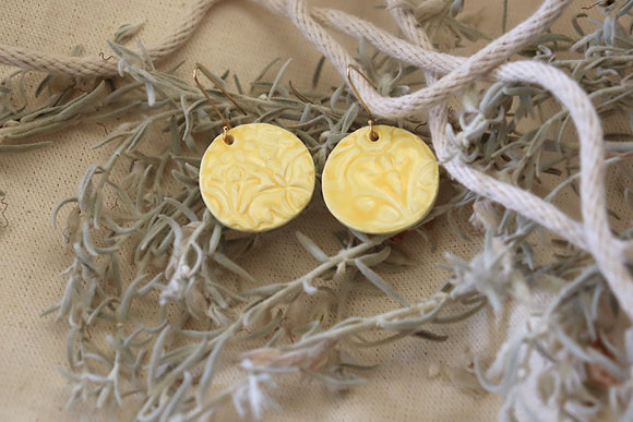 Yellow Heritage Earrings