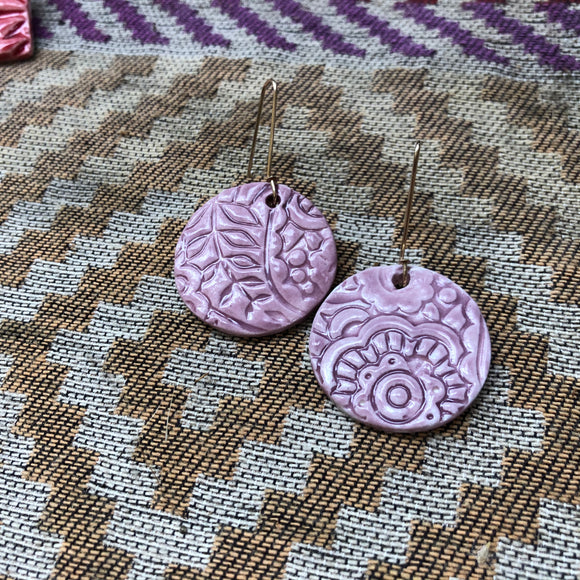 Lilac paisley Earrings