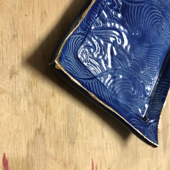 Japanese wave dish (square)