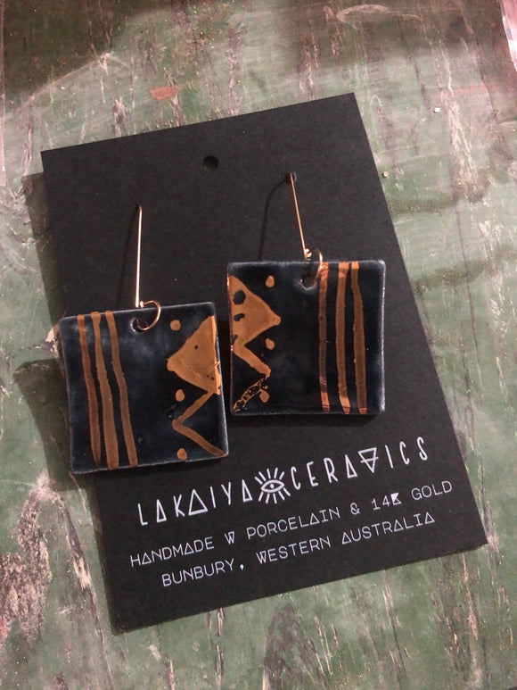 Tribal Midnight Earrings