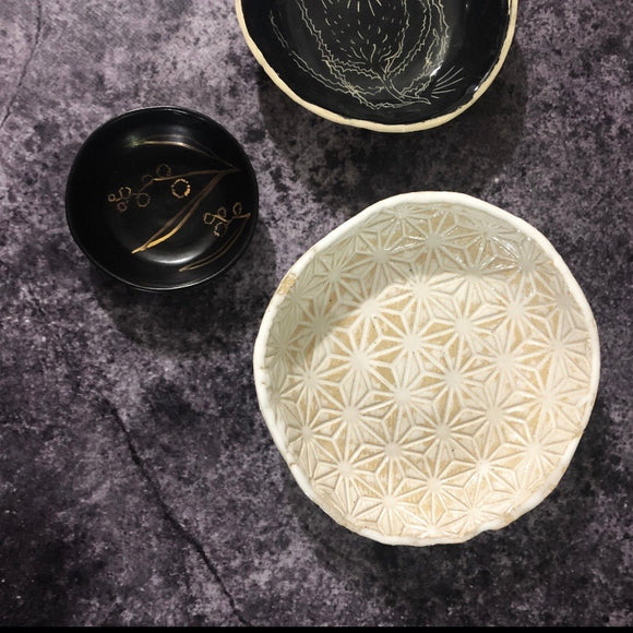 White Japanese star bowl