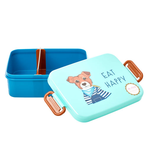 Brotdose Lunchbox mit Trennwand Farm Animals, blau