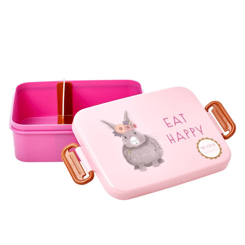 Brotdose Lunchbox mit Trennwand Farm Animals, rosa