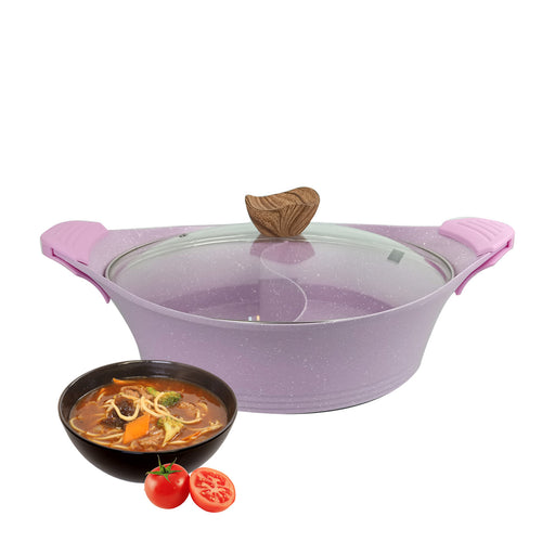 30 cm Pink Steamboat Granite Pot MGC