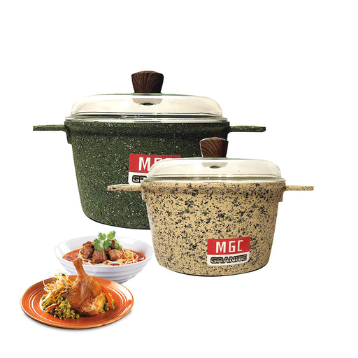 20 cm - 28 cm Granite Casserole Pot MGC (All Size)