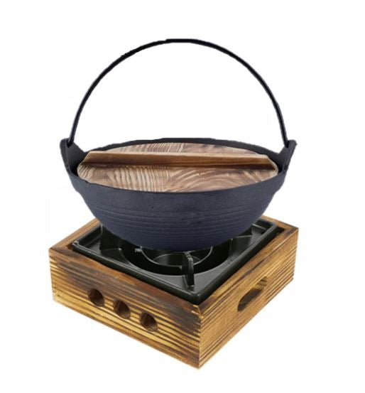18 - 20 cm Cast Iron Pot with Wooden Lid (All Size)