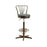 Adjustable Becco Bar Stool With Back Rest & PVC Cushion Seat BA703-STB