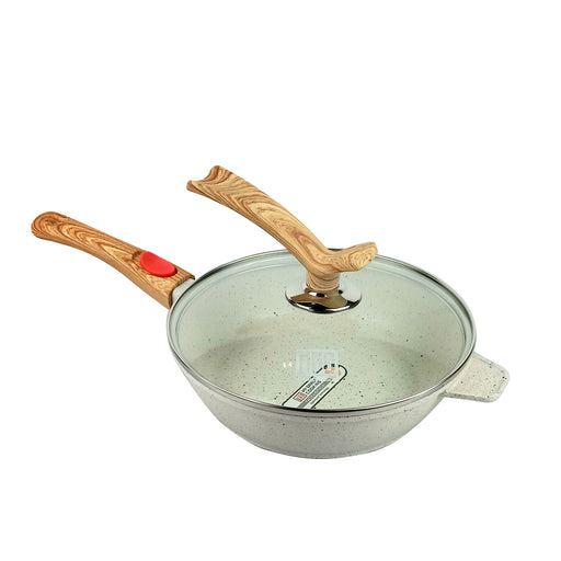 24 - 28 cm Romantic Round Granite Sauce Pan MGC (All Size)