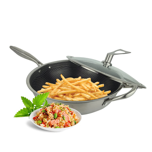 32 cm Physical Non-Stick Wok with Handle SH32C
