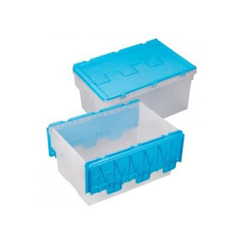 56 Litre Industrial Blue Container with Cover 1028
