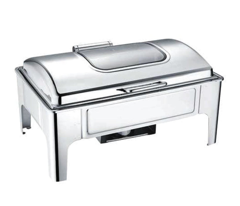9 Litre Rectangular Hydraulic Chafing Dish With Glass Lid CF-811GL