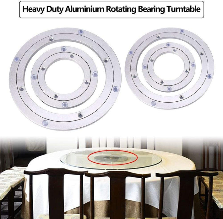 "18"" - 20"" Aluminium Rotating Bearing Turntable Round Table Swivel Lazy Susan (All Sizes)"