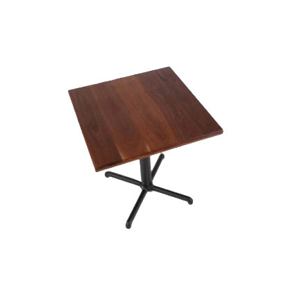 Square Bar Table Rubber-Wood Top With Bar Table Leg (All Sizes)