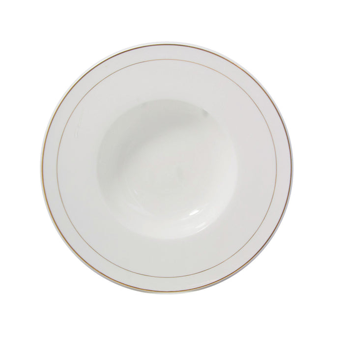 "10"" Paste Soup Plate Double Gold  AD PT-0071"