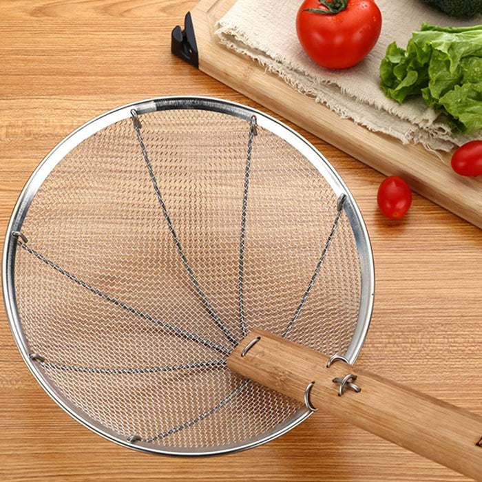 "8"" - 14"" Stainless Steel Strainer with Bamboo Handle - Fine mesh (All Sizes)"