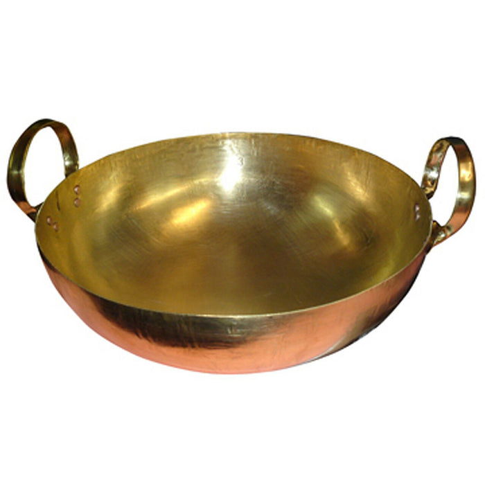 "9"" Brass Wok Copper"