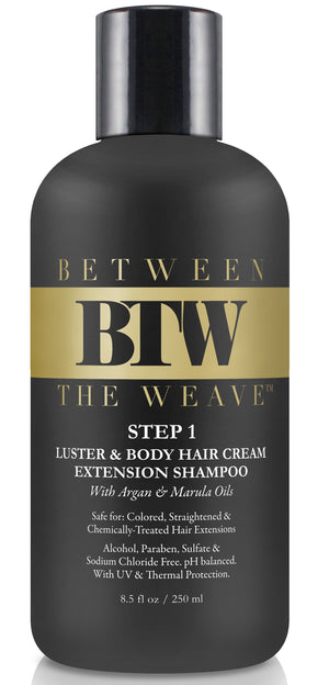 STEP 1- LUSTER & BODY HAIR EXTENSION SHAMPOO