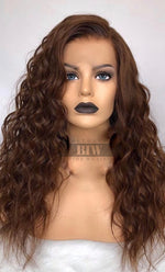 BRUNETTE WAND CURL WIG- HD LACE