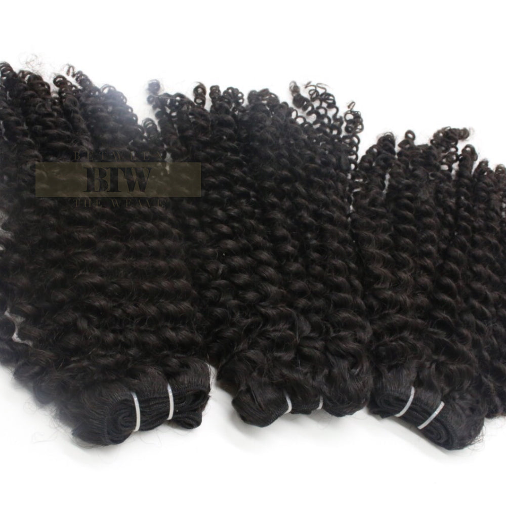 CAMBODIAN KINKY CURLY-RAW HAIR BUNDLE DEAL