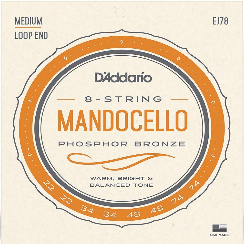 D'Addario Phosphor Bronze Mandocello Strings, .022-.074