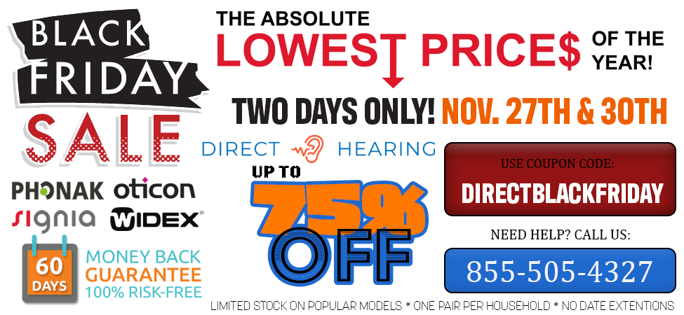 Black Friday Hearing Aid Discount