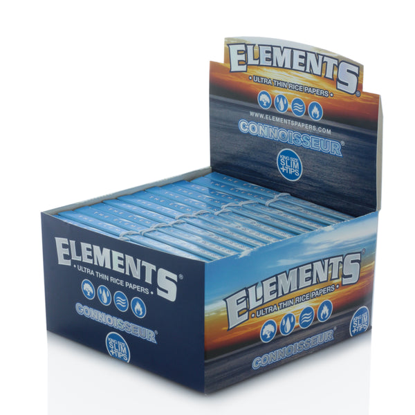 Elements King Size Connoisseur Rolling Papers with Rolling Tips