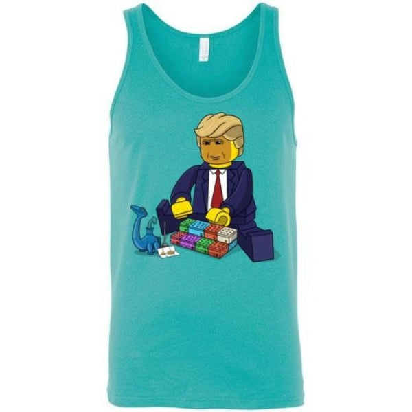 Build The Wall Of Budderblocks Unisex Tank - Teal / S