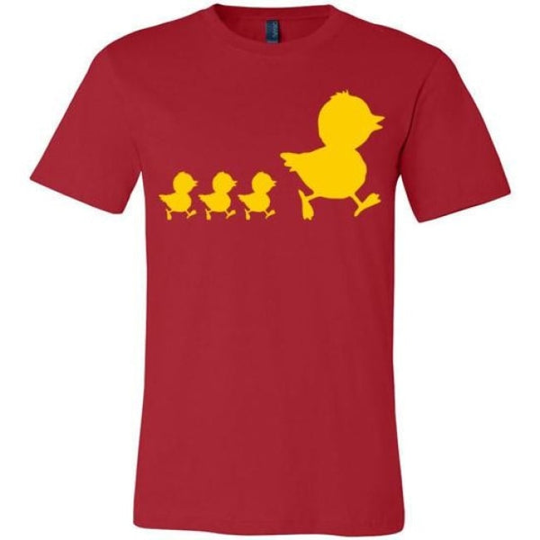 Errlybird Little Ducks Shirt - Red / S