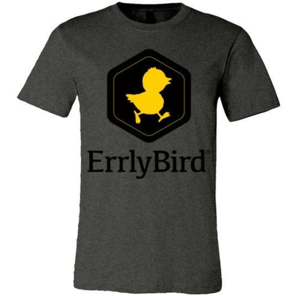 Errlybird Unisex T-Shirt - Dark Grey Heather / S