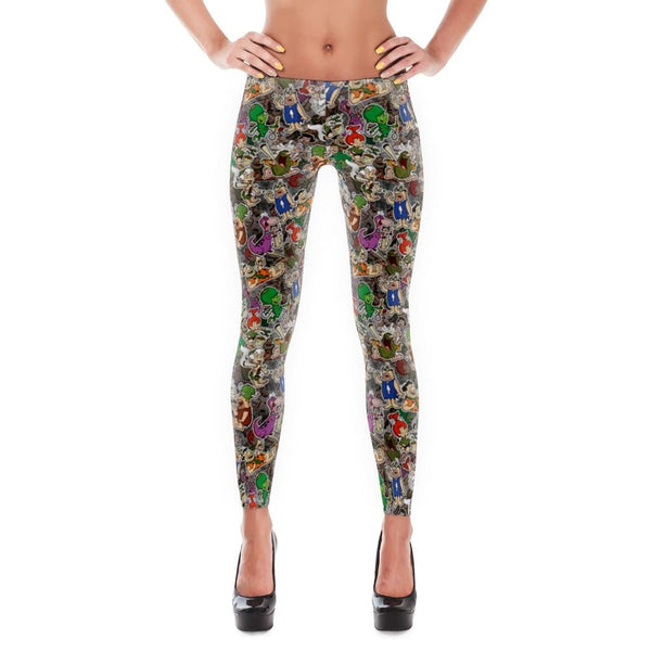 Flinstoned Leggings - Xs