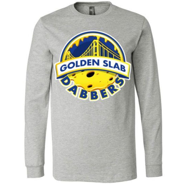 Golden Slab Dabbers Long Sleeve Shirt - Athletic Heather / S