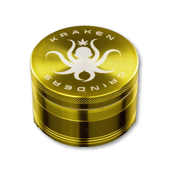 Kraken Grinders - 2.5 4-Piece Grinder With Pollen Catch - Grinder
