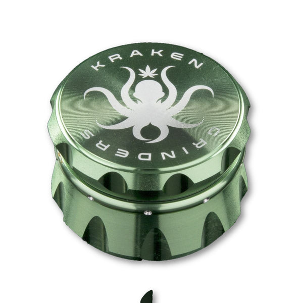Kraken Grinders - 2.5 4-Piece Or 2.2 4-Piece Diamond Ridge Grinder - Grinder