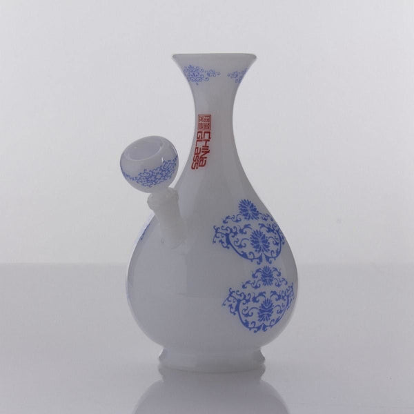 The China Glass Huang Quin Dynasty Vase Water Pipe - Water Pipe