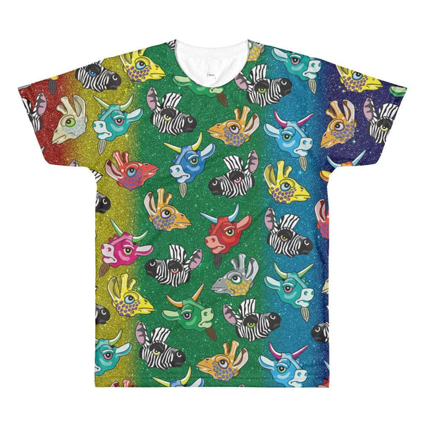 Zoo Keeper Rainbow Sublimation Mens T-Shirt - Xs