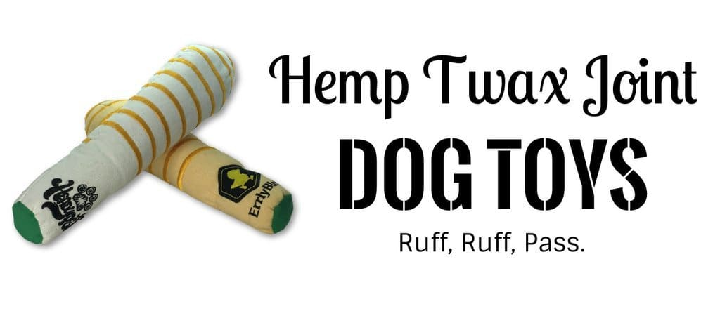 Hemp twax joint dog toy