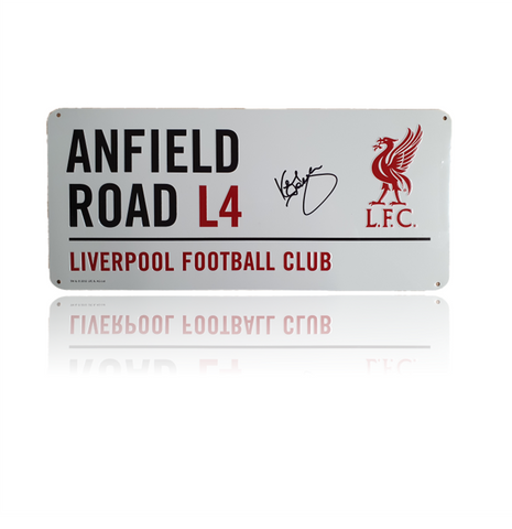 Sir Kenny Dalglish Hand Signed 'Anfield Road' Metal Plaques