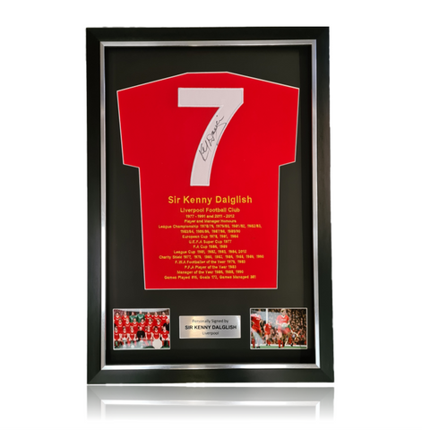 Sir Kenny Dalglish Hand Signed 'Honours ' Presentation in Deluxe Classic Frame