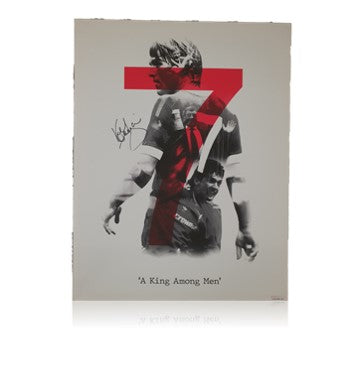 Kenny Dalglish LIMITED EDITION (25 ONLY) Hand Signed #7 Canvas Prints, Framed