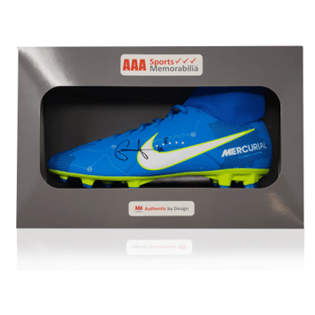 Naby Keita Hand Signed Blue Nike Mercurial Football Boot in AAA Sports Gift Box