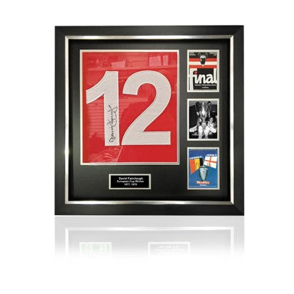 David Fairclough Signed #12 'European Cup Winners' Commemorative Presentation in Deluxe Classic Frame