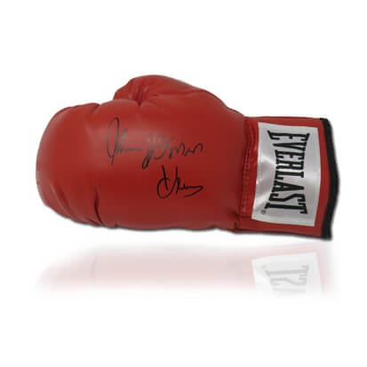 Thomas 'THE HITMAN' Hearns Signed Red Everlast Glove in Deluxe Classic Dome Frame