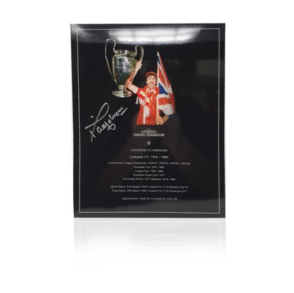 "Terry McDermott Hand Signed 12"" x 16"" Honours Poster"