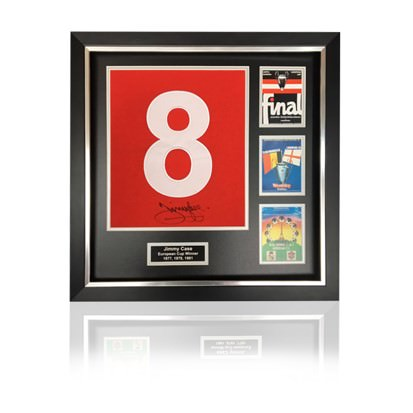 Jimmy Case Hand Signed #8 'European Cup Winners' Commemorative Presentation in Deluxe Classic Frame