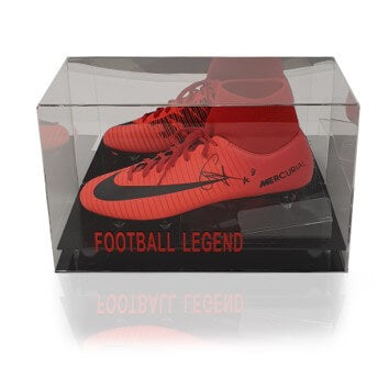 Naby Keita Hand Signed Red Nike Mercurial Football Boot in Acrylic Display Case