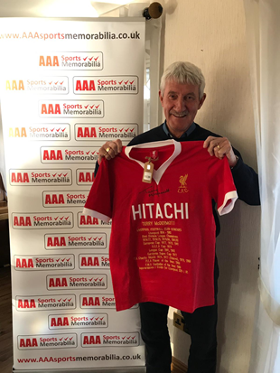 Terry McDermott Hand Signed HITACHI Honours Shirt in AAA Gift Box