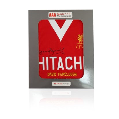David Fairclough Hand Signed HITACHI Honours Shirt in AAA Gift Box